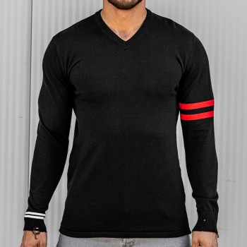 Ефектно прокъсана блуза в черен цвят 10400