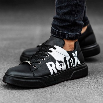 Черни обувки с бяла щампа REFEX 2527