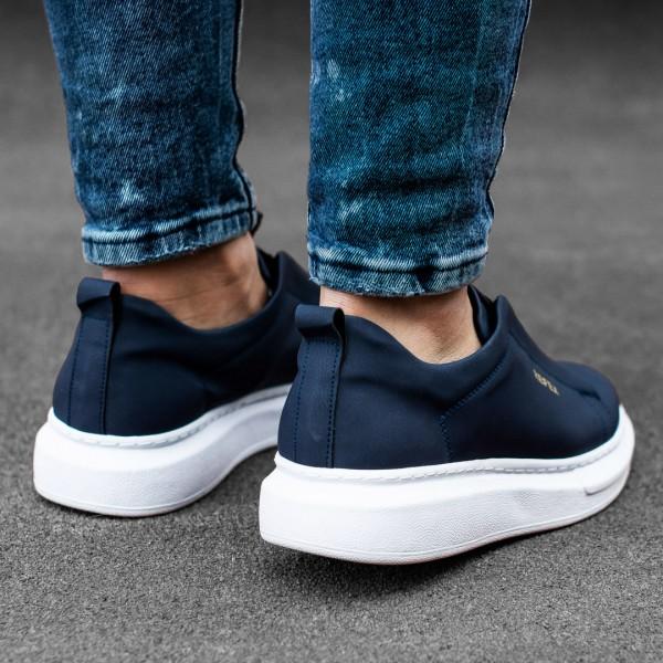 Тъмно сини обувки с ластици 2537