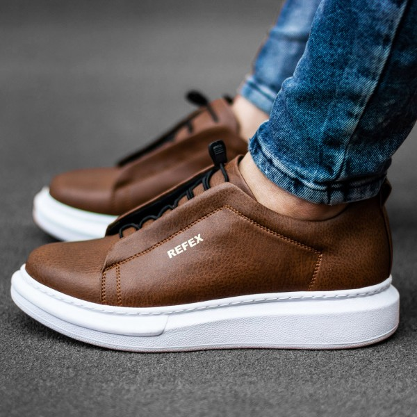 Кафяви обувки с ластици 2539