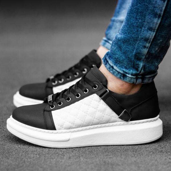 Обувки черни с бяло в страни 2543