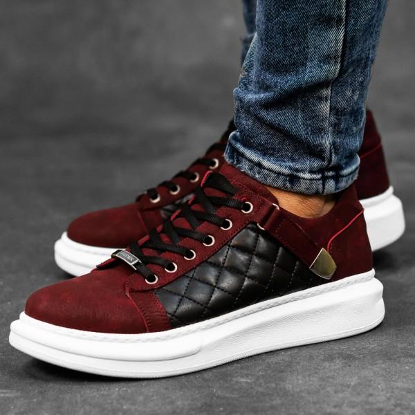 Обувки бордо с черно в страни 2544