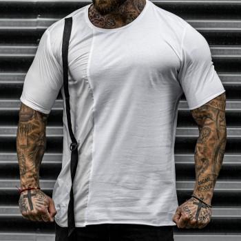 Бяла тениска с тиранти код 3330
