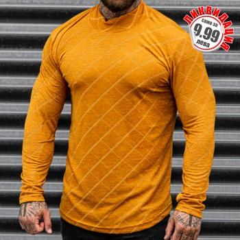 Блуза оранжева с рипс плетка 33358