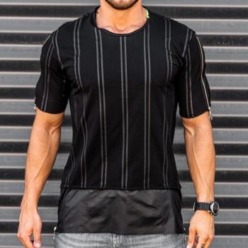 Тениска с райе в черно 33394