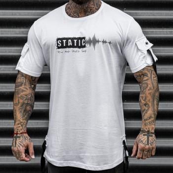 Тениска STATIC в бяло 33403