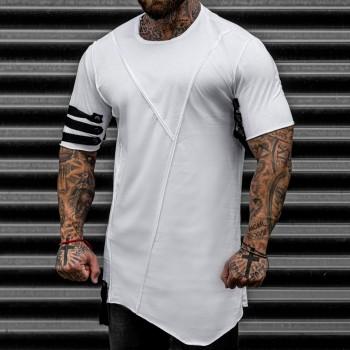 Асиметрична тениска в бяло 33449