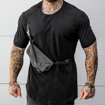 Тениска с чанта в черно 33466