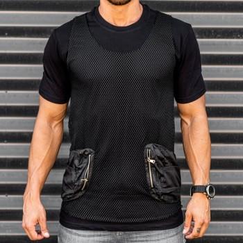 Тениска 2 части в черно 33470