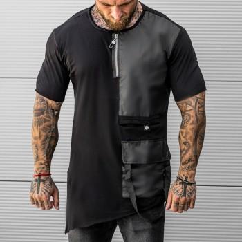 Тениска Double в черно 33493