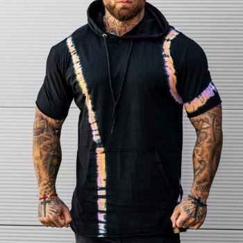 Тениска с качулка в черно 33527
