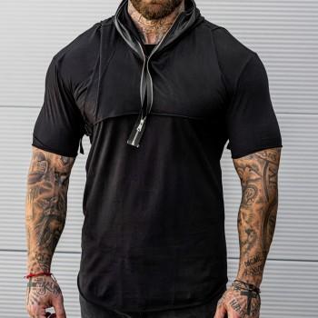 Тениска от 2 части в черно 33540