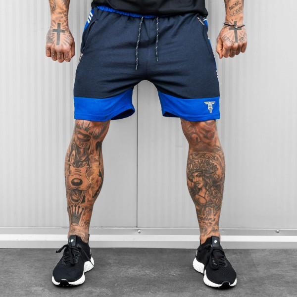 Къси панталони SPEED в черно и синьо 6089