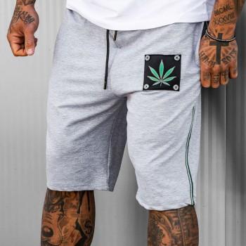 Къси панталони NATURE в светло сиво 6106