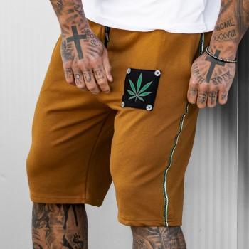 Къси панталони NATURE в охра 6107