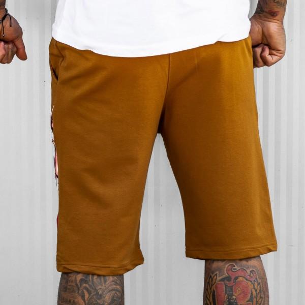 Къси панталони LA CASA в охра 6121