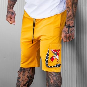 Къси панталони Balance в жълто 6125