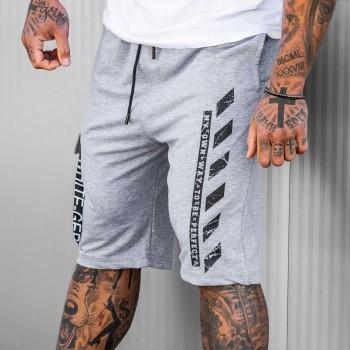 Къси панталони OFF-DAVID в светло сиво 6138