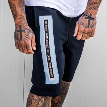 Къси панталони OFF-DAVID в черно и синьо 6144