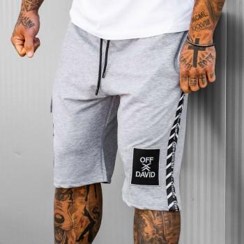 Къси панталони OFF-DAVID в светло сиво 6148