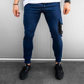 Долнище със страничен джоб в синьо 7756