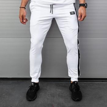 Долнище в бяло със страничен кант 7759