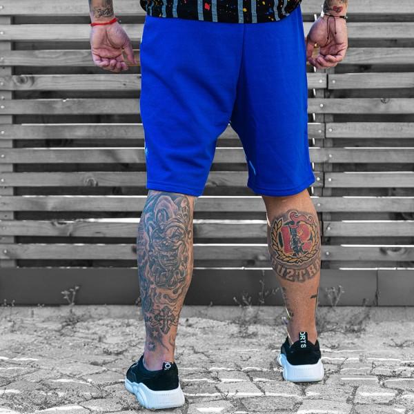 Сини къси панталони код 6071