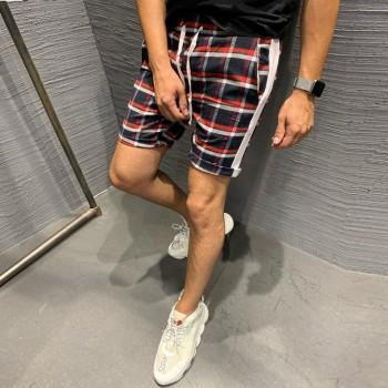 Kъси панталони с червено райе  код 6064