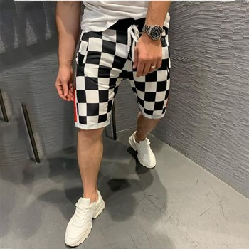 Шахматни къси панталони код6067