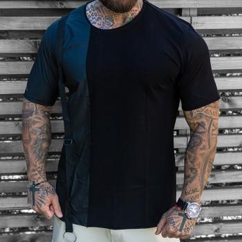 Черна тениска с тиранти код 3321